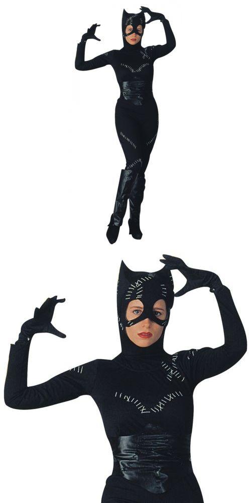 Halloween Costumes Women: Catwoman Cat Woman Suit Catsuit Costume Dc Comics Halloween Fancy Dress BUY IT NOW ONLY: $39.59