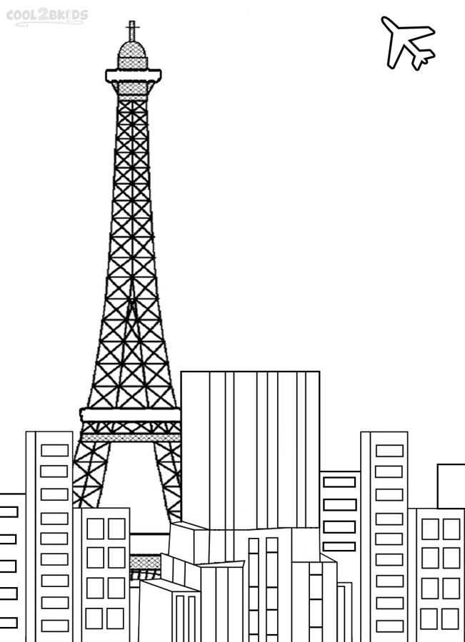 printable eiffel tower coloring pages for kids cool2bkids - France Eiffel Tower Coloring Page