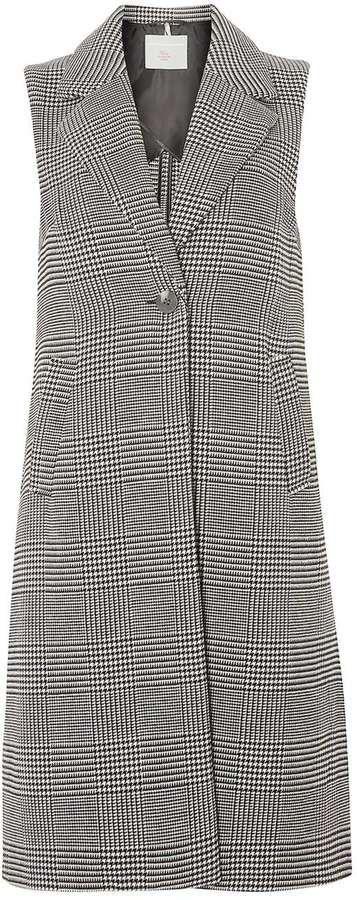 Petite Check Sleeveless Coat