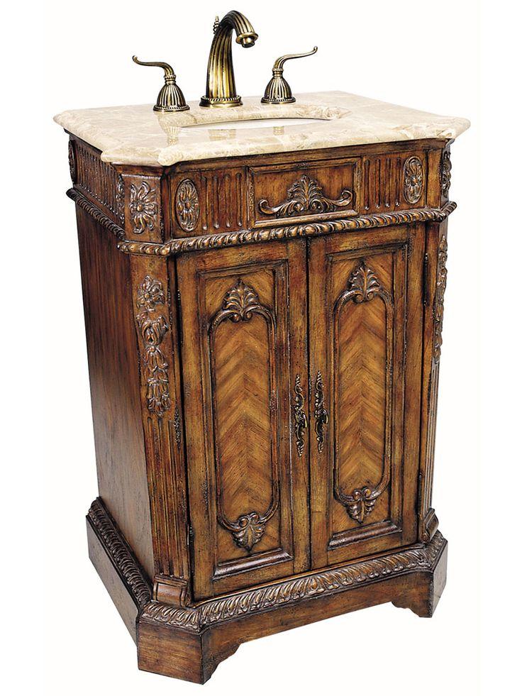 282 best antique vanities images on pinterest bathroom - Antique bathroom sinks and vanities ...