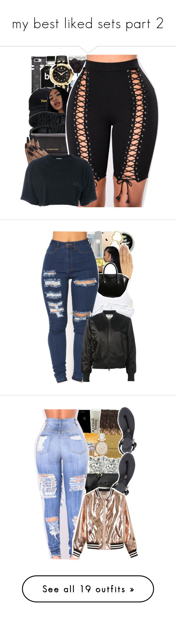 """my best liked sets part 2"" by danny-baby ❤ liked on Polyvore featuring Versace, Puma, Michael Kors, Aries, Maybelline, Wet Seal, Givenchy, Topshop, Acne Studios and philosophy"