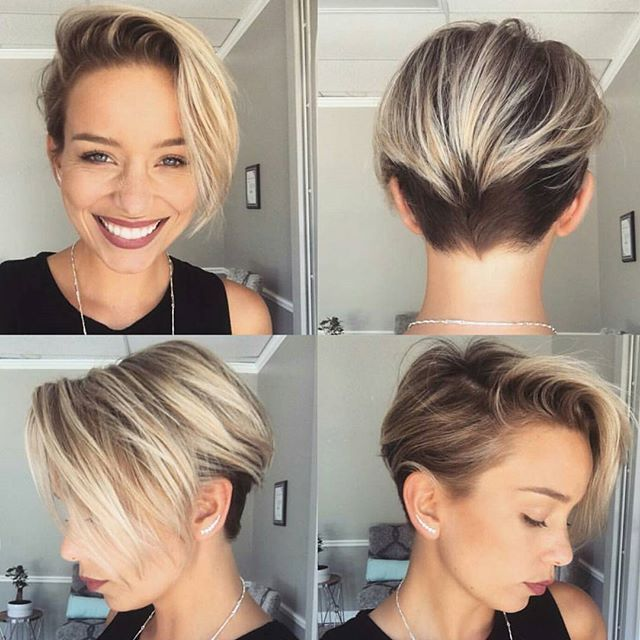 @sarah_louwho with a #pixie360 of her new haircut cut by @thisgirlmichele