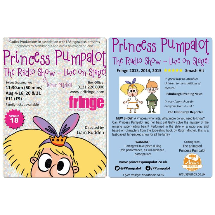 Tickets now on sale for Princess Pumpalot: The Radio Show - Live on Stage! at the Edinburgh Fringe https://tickets.edfringe.com/whats-on/princess-pumpalot-the-radio-show-live-on-stage