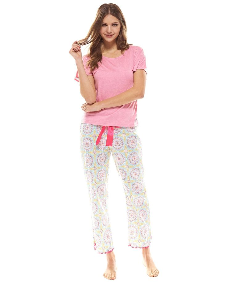 100% Cotton sateen cropped PJ pant with elasticised back waist, satin ribbon waist tie & curved hem with bobble trim. Slip on your Marrakech PJ pant and relax. Shop more womens pyjamas and womens sleepwear online. Express delivery Australia wide!