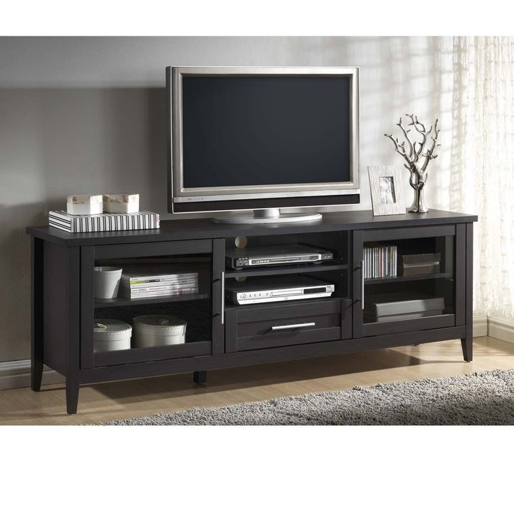 Baxton Studio Espresso Modern TV Stand-One Drawer - Free Shipping Today - Overstock.com - 16724332 - Mobile