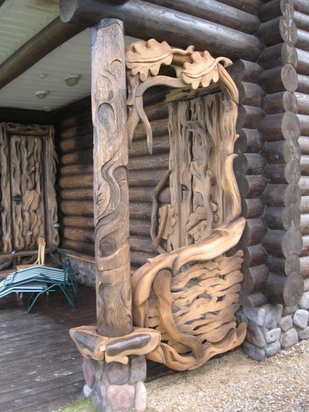 Great Way To Cap Off A Porch Wood Wood Carving Wood Creations