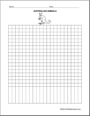 Bar Graph (create): Favorite Australian Animal - Create a bar graph to show information about favorite Australian animals.