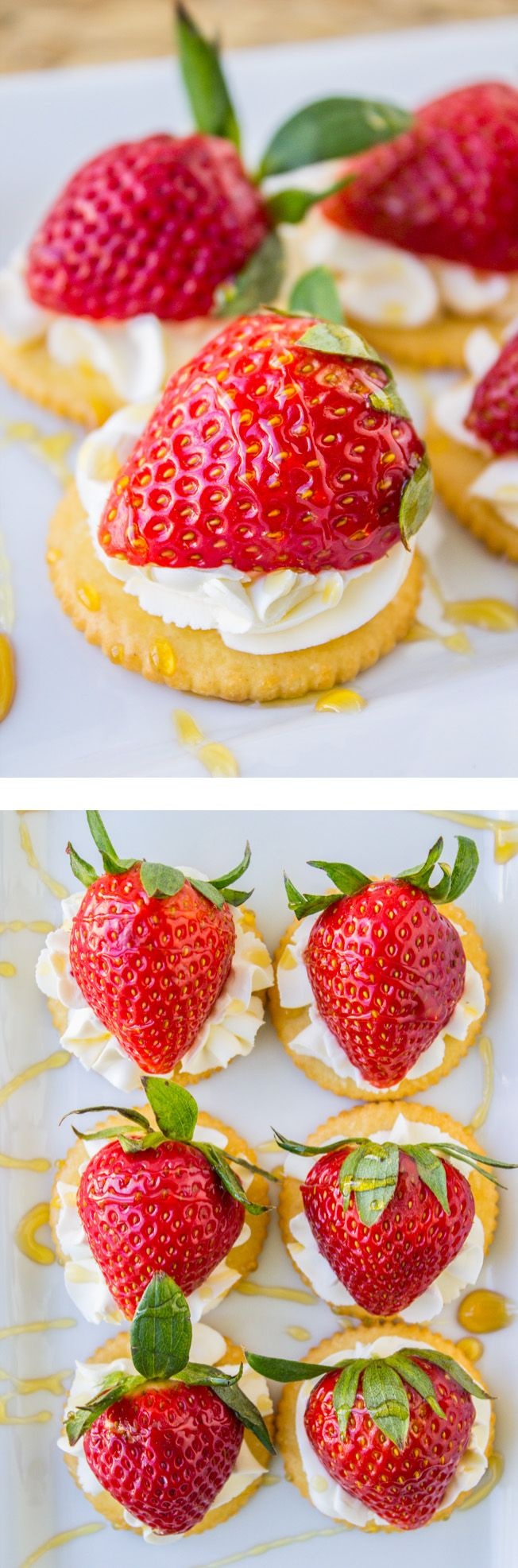 Easy Strawberries and Cream Appetizer // This 4-ingredient, stupid-easy recipe is the perfect appetizer for Easter!