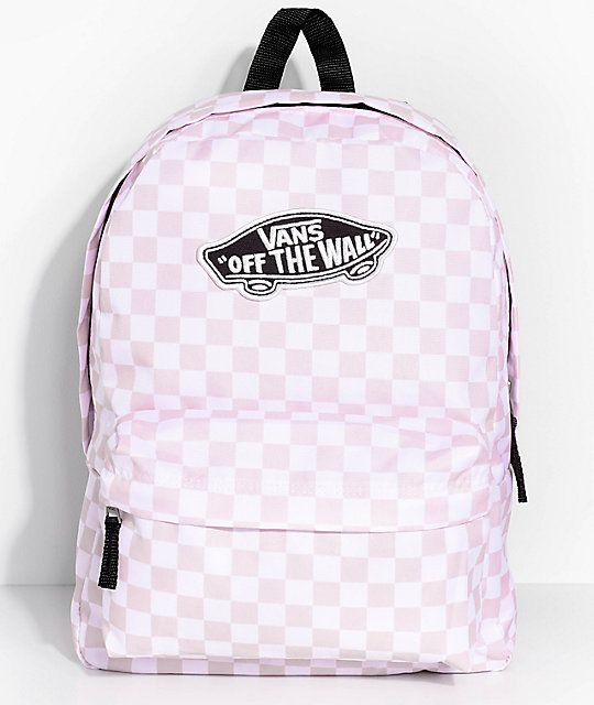 264076d88 Vans Realm Pink Check 22L Backpack | bags | Backpacks, Vans backpack ...