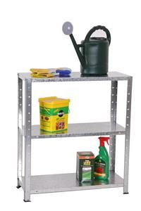 Greenhouse & Garden Shelving scrolled exterior and wrought iron wall brackets  - by Spur Shelving