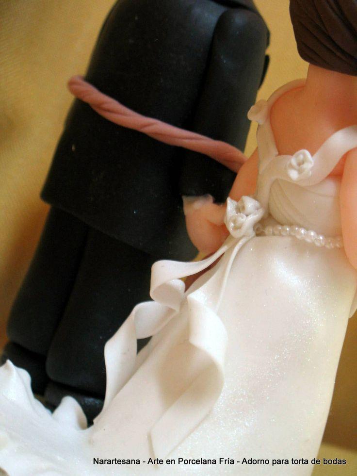 Adornos y souvenirs de casamiento realizados en Porcelana Fría / Wedding cake toppers and souvenirs made of Cold Porcelain