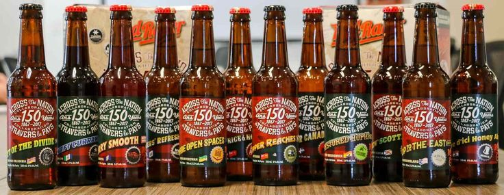 Try these fun Red Racer Across The Nation CollaborationCanada 150 bottles from Central City Brewers and Distillers at your Canada Day festivities.