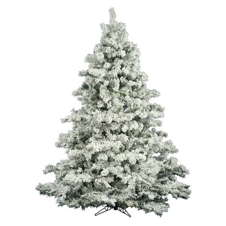 Vickerman Flocked Alaskan Unlit Pine Christmas Tree   $479.99 @hayneedle