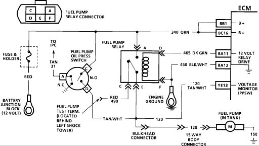 1994 Chevy 1500 Fuel Pump Wiring Diagram