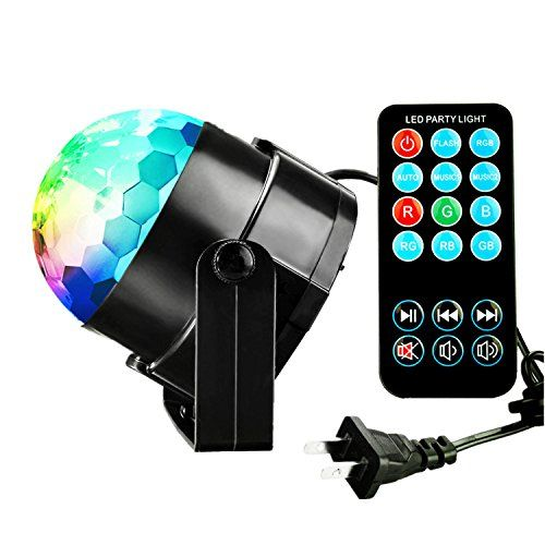 TTF 3W Led Disco Lights with Sound Activated,DJ Stage Lig...