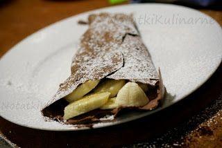 Kakaowe naleśniki z kakaowym kremem mascarpone i z bananami