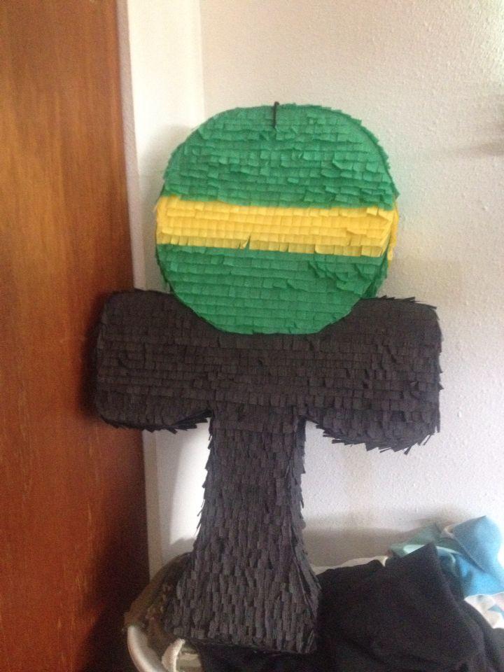 Kendama piñata for a kendama themed party