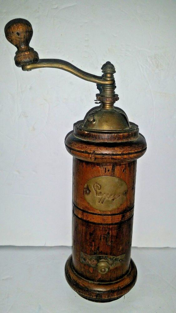 Vintage Acciaio Tempero Italian Old World Wood Amp Brass