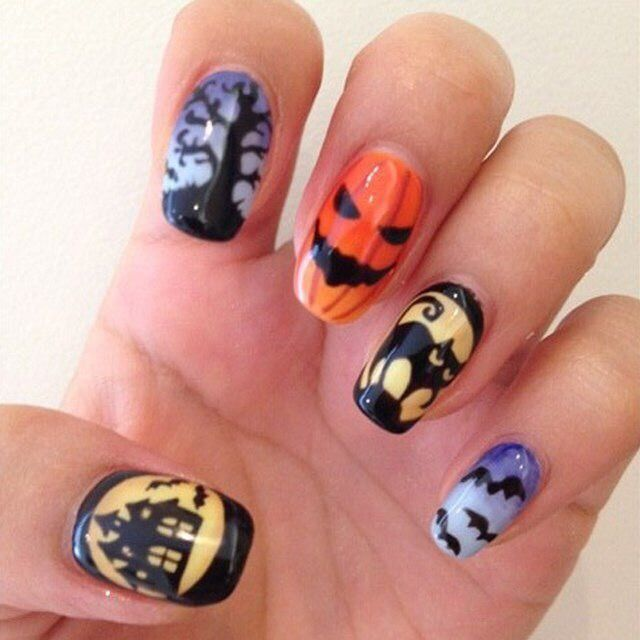 Nail Colors Halloween: 58 Best Halloween Nails Images On Pinterest