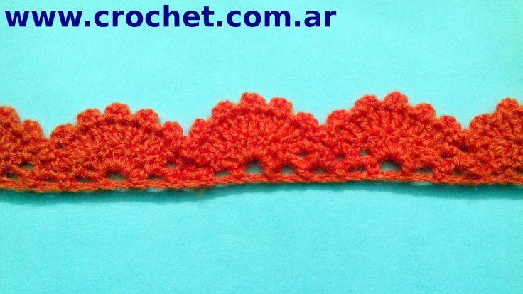 Puntilla N° 13 en tejido crochet tutorial paso a paso.