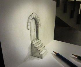 誰でも描ける!紙から飛び出すトリックアート、だまし絵(騙し絵)の描き方 - NAVER まとめ