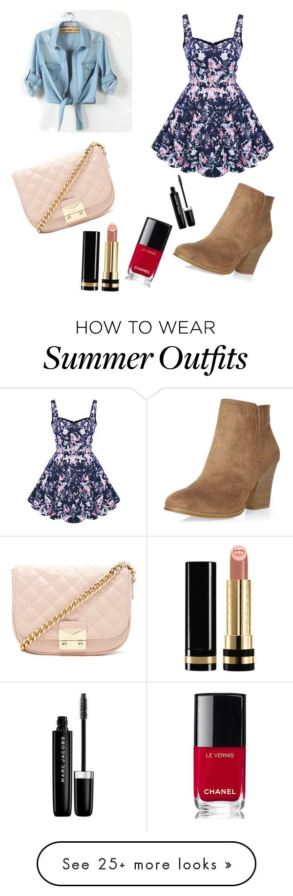 """Lydia Martin Inspired Outfit - Motel California S3Ep06"" by emily-hasted on Polyvore featuring Dorothy Perkins, Marc Jacobs, Gucci, Forever 21 and Chanel"