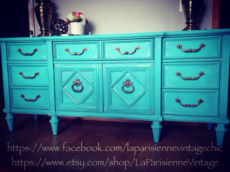STANLEY Turquoise Dresser, Hollywood Regency sideboard, Ornate Mediterranean, Gypsy Moroccan Credenza, Boho Chic Nursery Changing Table by LaParisienneVintage on Etsy https://www.etsy.com/listing/273805562/stanley-turquoise-dresser-hollywood