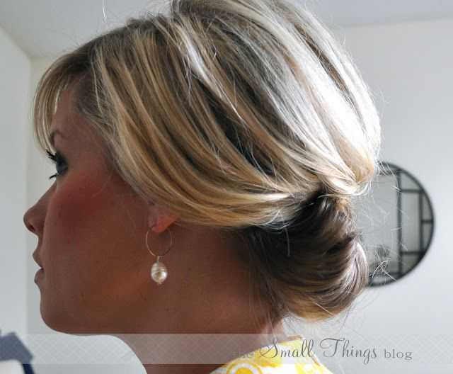 The Chic Updo...SIMPLE♥  Great for shoulder length hair!  Looks really elegant for brides, formal events, or even a bad hair day!