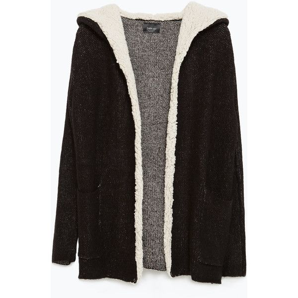 Zara Short Coat (3.080 RUB) ❤ liked on Polyvore featuring outerwear, coats, jackets, black, zara coat, black coat and short coat