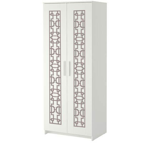 Caci O'verlays Kit for IKEA BRIMNES Wardrobe w/ 2 Doors