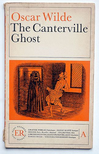 Oscar Wilde : The Canterville Ghost.  First real book I've ever read by myself, when I was ten. :) I loved it, and I still do.
