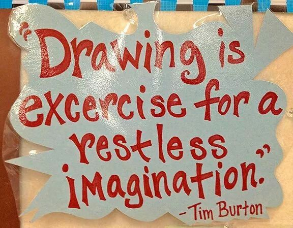 """Inspirational Quotes With Drawings: """"Drawing Is Exercise For A Restless Imagination."""""""