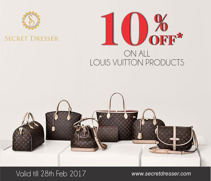 #SecretDresser brought to you wonderful collection of #LV #Handbags that too on an exciting offers. Visit now to avail the collection.