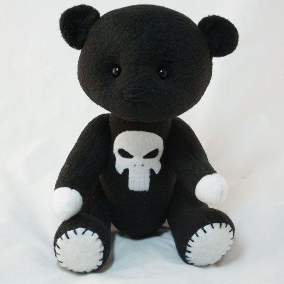 Punisher  мишка от MamaKarloShop на Etsy