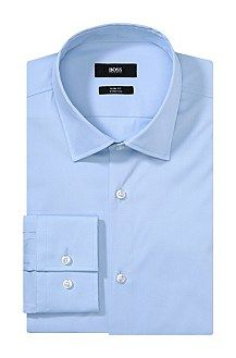 Slim-fit business shirt 'Jenno' with a shark collar, Light Blue