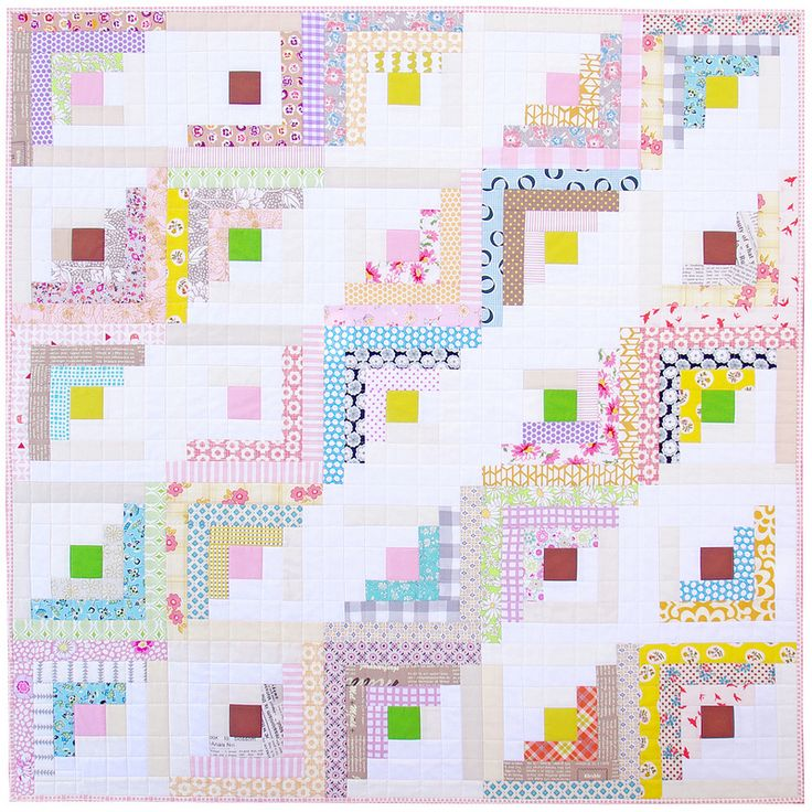 Fields and Furrows ~ Log Cabin Quilt | Red Pepper Quilts 2015