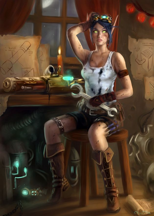 Commission Rivaryn - Bloodelf Engineer by Jorsch.deviantart.com on @deviantART