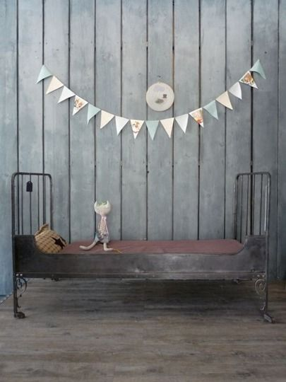industrial kids room-how fun is this? Don't forget to use lead paint to get the cool prison wall effect.