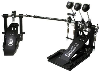 Duallist Bass Drum Pedal -Triple Pedal - Three Beaters!                                                                                                                                                                                 More