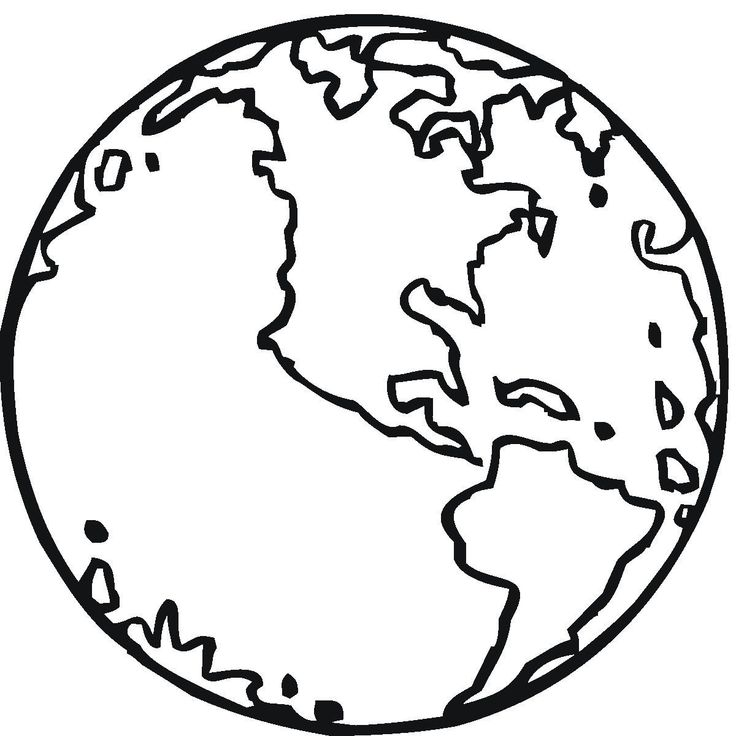 Printable Earth Coloring Page Free Pages For Kids