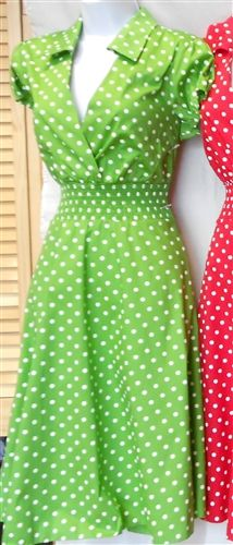 $48 Vintage Style Collar Summer Dress JUST RESTOCKED in Green! PLUS SIZE 1X 2X 3X