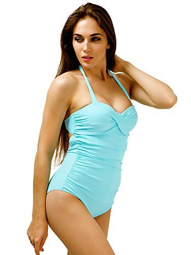 New Trending Bodysuits: Retro Halter Pin Up Swimsuits for Women Cute One Piece Bathing Suits Swimwear with Ruffles M. Special Offer: $9.99 amazon.com Retro Halter Swimsuits for Women One Piece Pin Up Bathing Suits with RufflesOur one piece swimsuits run a little small, please order a size up. Style: Our swimwear has many different features that are meant to flatter all different body types. The halter tie...