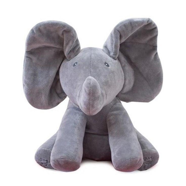 Peek a boo Plush Electric Elephant Play Hide and Seek