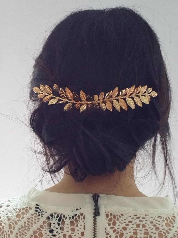Gold Long Laurel Hair Comb Bridal Hair Bride Hair Bridesmaid Hair Bridesmaid Jewelry Bride Hair Accessories Wedding Hair Wedding Hair Comb