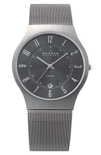 Free shipping and returns on Skagen 'Grenen' Titanium Case Watch at Nordstrom.com. Titanium watch features an easy-to-read dial, date window and adjustable ion-plated titanium mesh band.