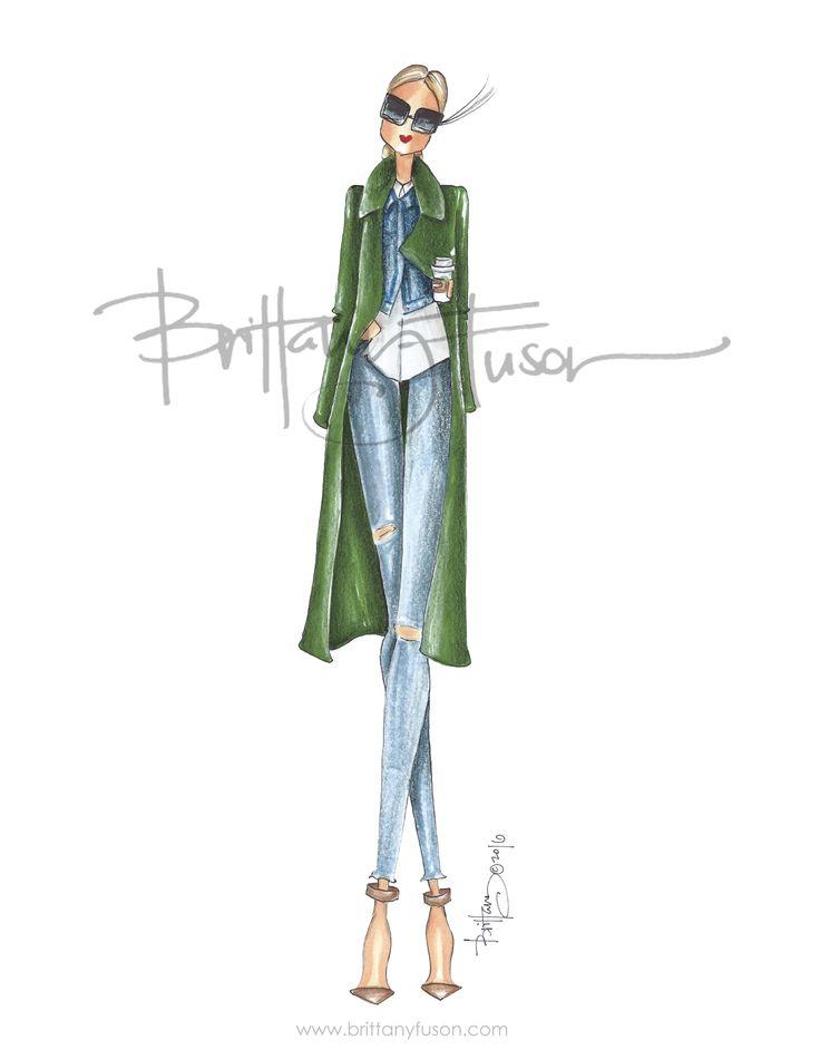 Bee Olive | Brittany Fuson | fashion illustration | Blair Eadie | Atlantic Pacific