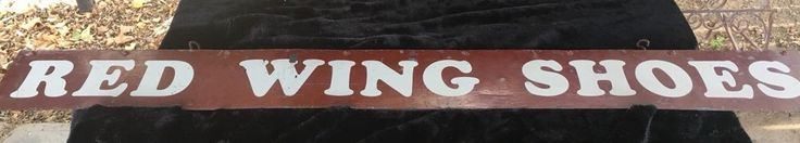 "Vintage Large 84"" ""Red Wing Shoes"" Hand Painted Metal Double Sided Store Sign  