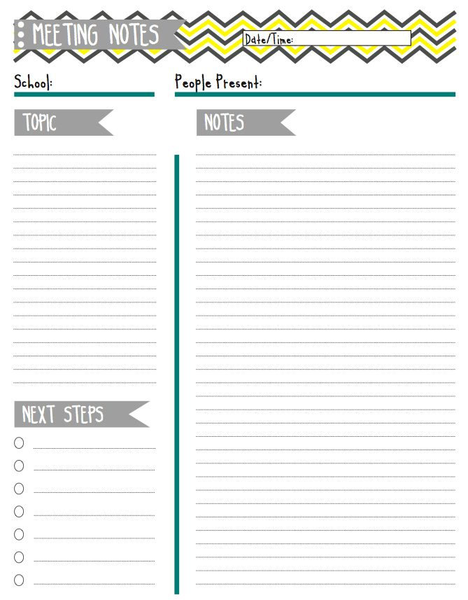 Best 25+ Notes template ideas on Pinterest English kindergarten - meeting notes template