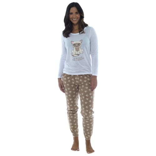 337d45d0c2 Ladies Beige  More Issues than a Magazine  Cat Long PJs Set in 2018 ...