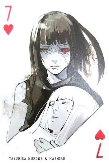 Kurona & Nashiro ~ 7 of Hearts ~ Tokyo Ghoul trump cards